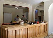 View of bar being refurbished